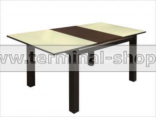 Стол обеденный Классик-3/1 (Венге, Стекло песочное)