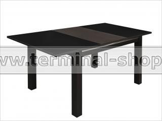 Стол обеденный Классик-3/3 (Венге, Стекло чёрное)
