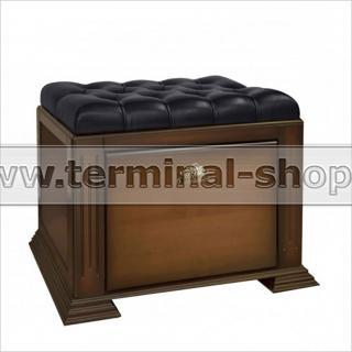 Банкетка-обувница EL4114 (Итальянский орех, Чёрный)