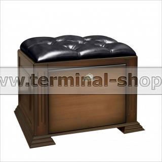 Банкетка-обувница EL4115 (Итальянский орех, Чёрный)