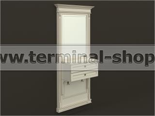 Панель-зеркало с консолью ПЗК-6/1000 (Бежевый с коричневой патиной)