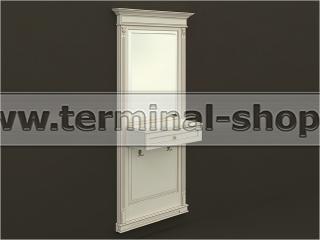 Панель-зеркало с консолью ПЗК-6/1005 (Бежевый с коричневой патиной)