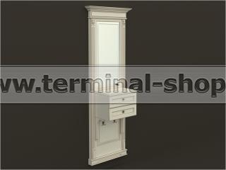 Панель-зеркало с консолью ПЗК-6/770 (Бежевый с коричневой патиной)