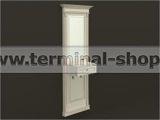 Панель-зеркало с консолью ПЗК-6/775 (Бежевый с коричневой патиной)