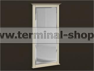 Зеркало Б-4/1700 (Бежевый с коричневой патиной)