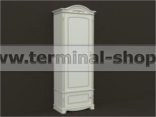 Шкаф однодверный ES106-1D (Бежевый с коричневой патиной, Дверь левая)