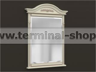 Зеркало ES114 (Бежевый с коричневой патиной)