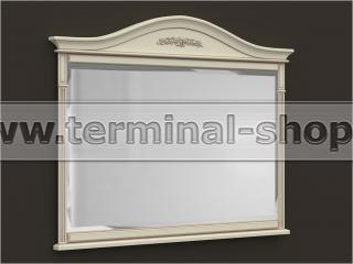 Зеркало ES210 (Бежевый с коричневой патиной)