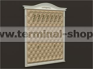 Панель-вешалка настенная ES415 (Бежевый с коричневой патиной, Песочный)