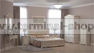Спальня Эсперанса-3/1 (Бежевый с коричневой патиной, Песочный)
