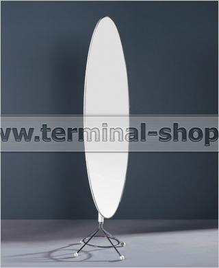 Консоль с зеркалом E13 (Хром M007, Глянец белый W023)