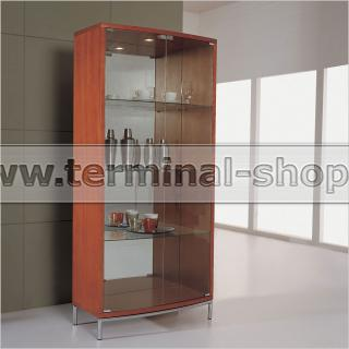 Шкаф стеклянный P038 (Вишня ME001)