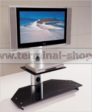 ТВ тумба V217 (Матовый M004, Стекло чёрное BLACK)