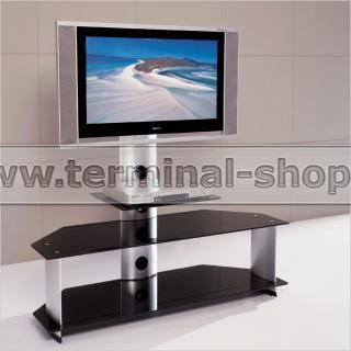 ТВ тумба V220 (Матовый M004, Стекло чёрное BLACK)