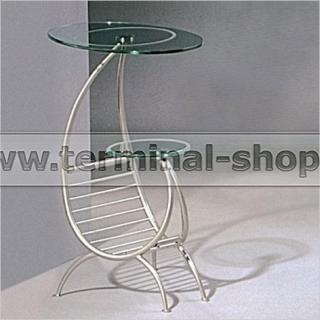 Стол журнальный A1033-4 (Матовый M004, Стекло прозрачное)