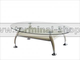 Стол журнальный A1119-1 (Хром M007, Слоновая кость R011)