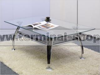 Стол журнальный A1119 (Хром M007, Лак коричневый R017)