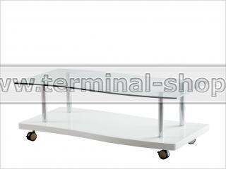 Стол журнальный A1318 (Хром M007, Глянец белый W023)