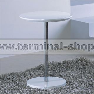 Стол журнальный A1373A (Хром M007, Глянец белый W023)