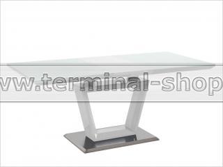 Стол обеденный ALEX (Глянец белый, Стекло белое)