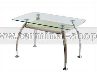 Стол обеденный B2087-2 (Хром M007, Кремовый R013)