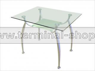 Стол обеденный B2092S (Матовый M004, Верхнее стекло прозрачное, Нижнее стекло матовое)