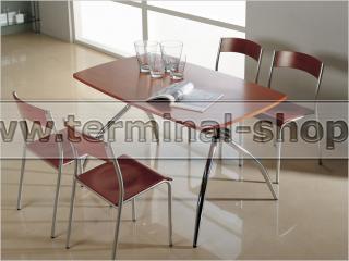 Стол обеденный B2163 (Хром M007, Вишня Q001)
