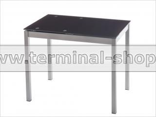 Стол обеденный B2170-1 (Матовый M004, Стекло коричневое BROWN, Вставка коричневая BROWN)