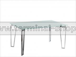 Стол обеденный B2226 (Хром M007, Стекло белое WHITE)