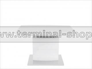 Стол обеденный DT15037-2 (Глянец белый, Стекло белоснежное)