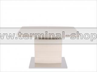 Стол обеденный DT15037 (Глянец бежевый, Стекло бежевое)