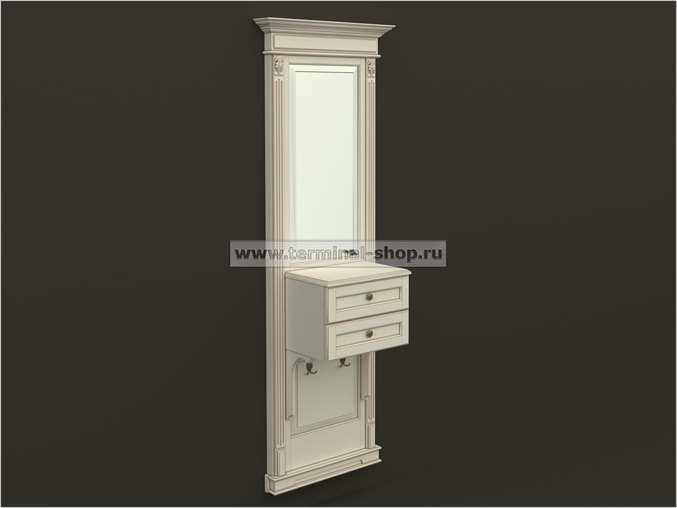 Панель-зеркало с консолью ПЗК-6/770
