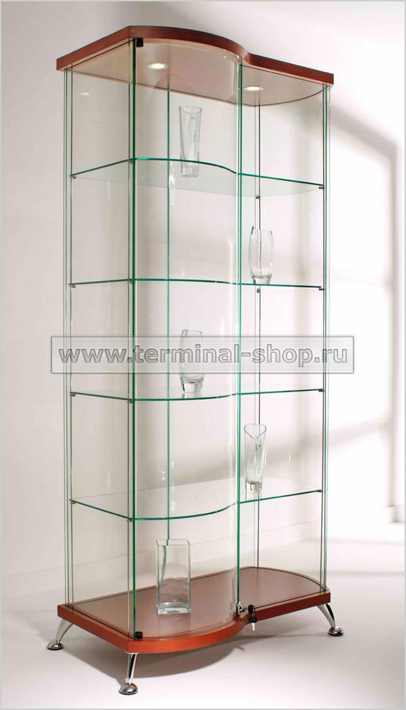 Витрина Прямоугольная с гнутой дверью и боковиной h1872мм