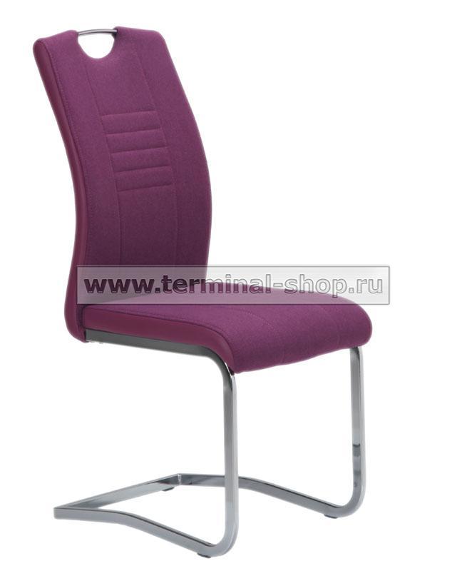 Стул DC506 (Хром, Текстиль Фиолетовый 28 + Фиолетовый 655)