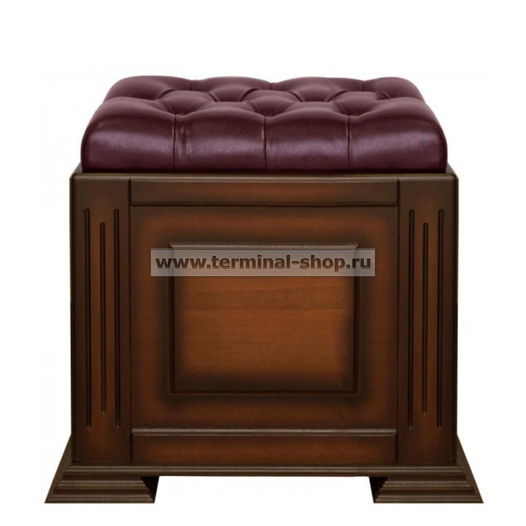 Банкетка-сундук на портале EL4108 (Итальянский орех, Бордовый)