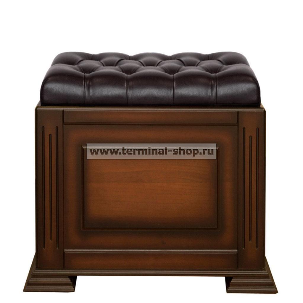 Банкетка-сундук на портале EL4118 (Итальянский орех, Чёрный)