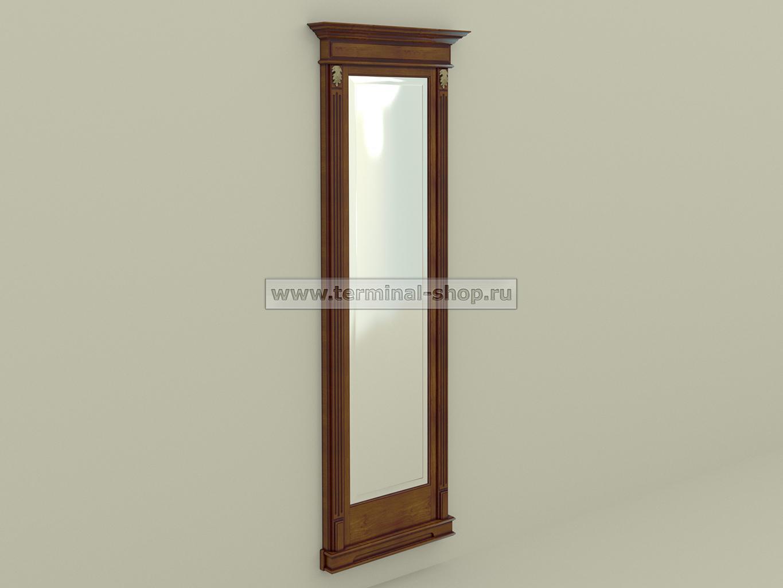 Панель-зеркало ПЗ-6/770 (Орех светлый с тёмной патиной)