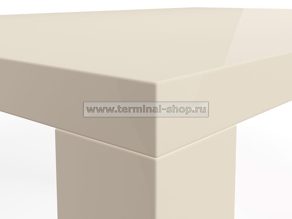 Стол обеденный Солярис-1 (Глянец бежевый)