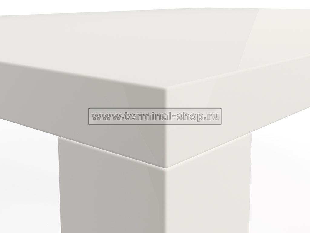 Стол обеденный Солярис-1 (Глянец белый)
