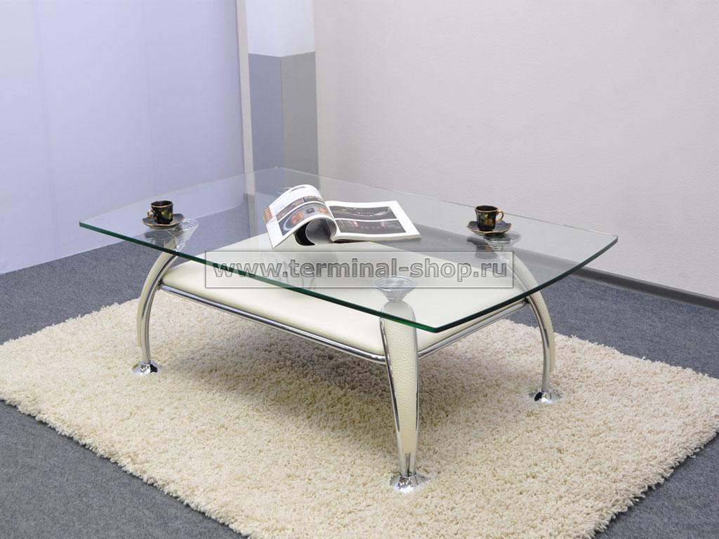 Стол журнальный A1119 (Хром M007, Кремовый R013)