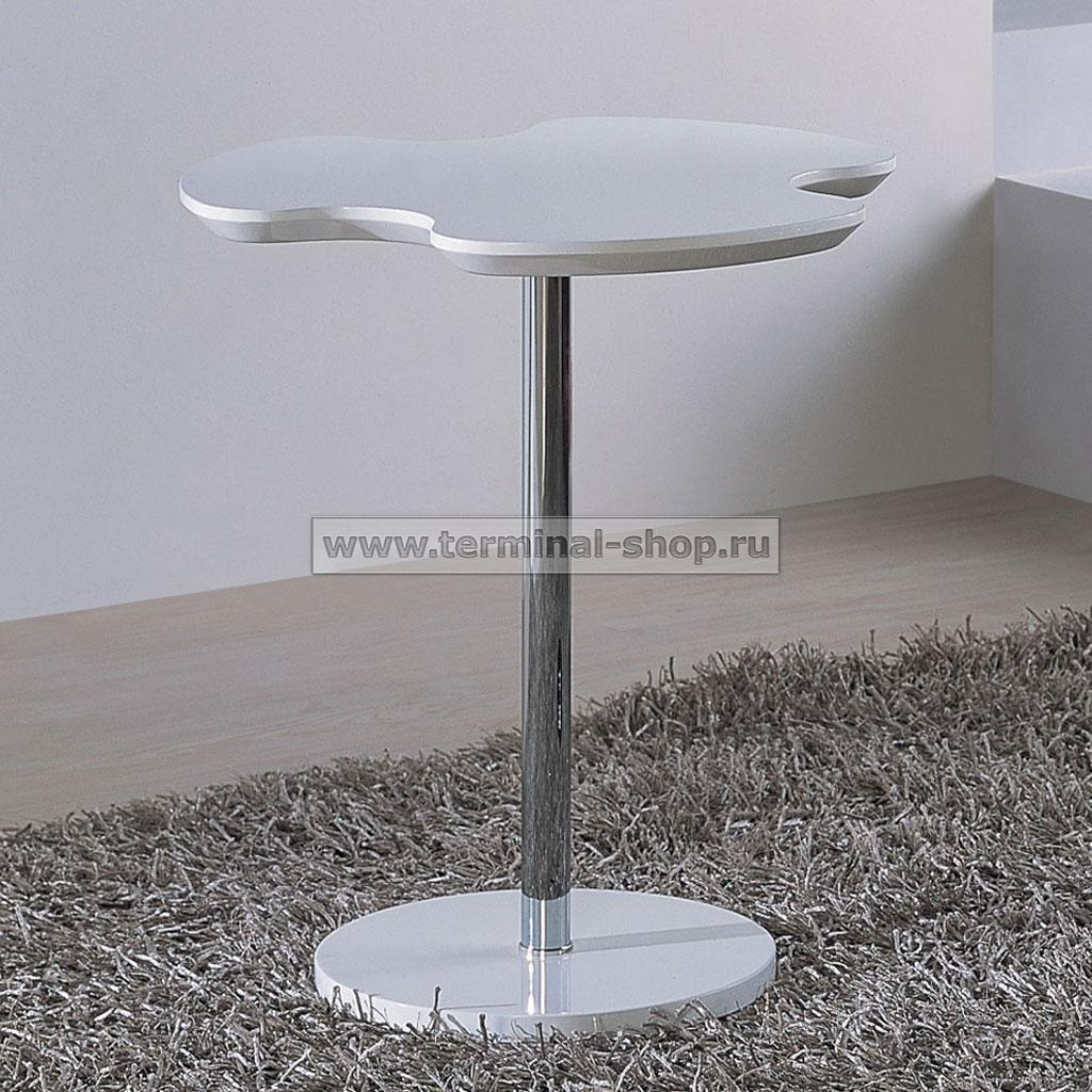Стол журнальный A1380A (Хром M007, Глянец белый W023)