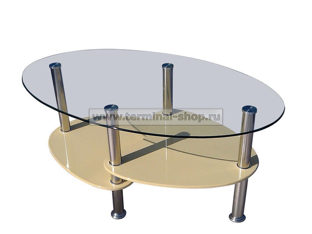 Стол журнальный CT555D (Хром, Глянец ваниль)