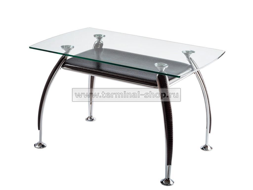 Стол обеденный B2087-2 (Хром M007, Лак коричневый R017)