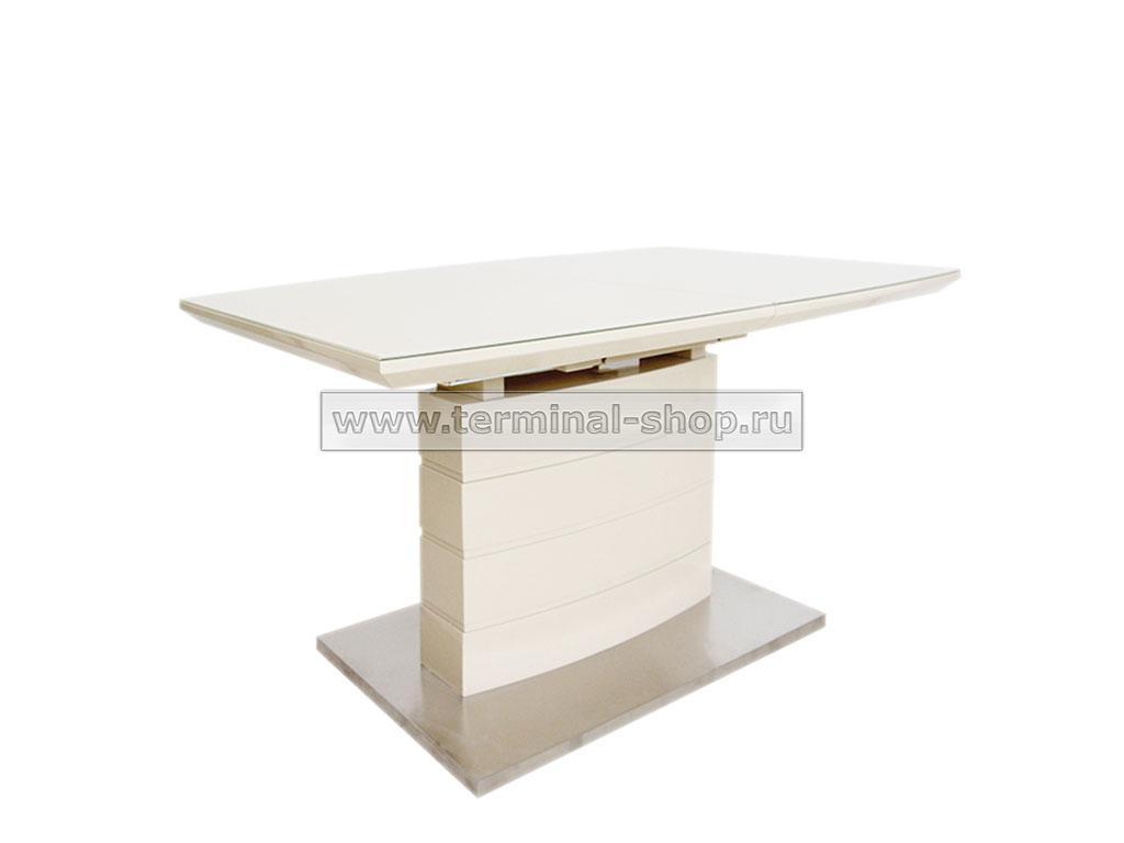 Стол обеденный DT211-1S (Глянец капучино + Латте, Стекло капучино)
