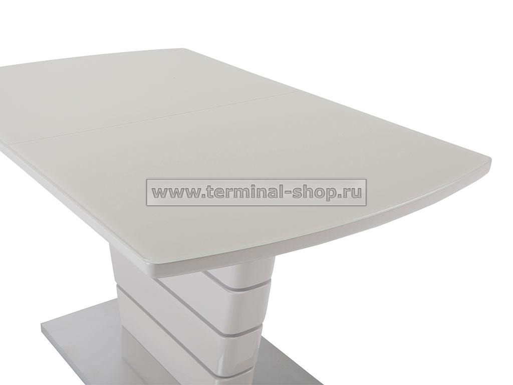Стол обеденный DT2123 (Глянец капучино + Латте, Стекло капучино)