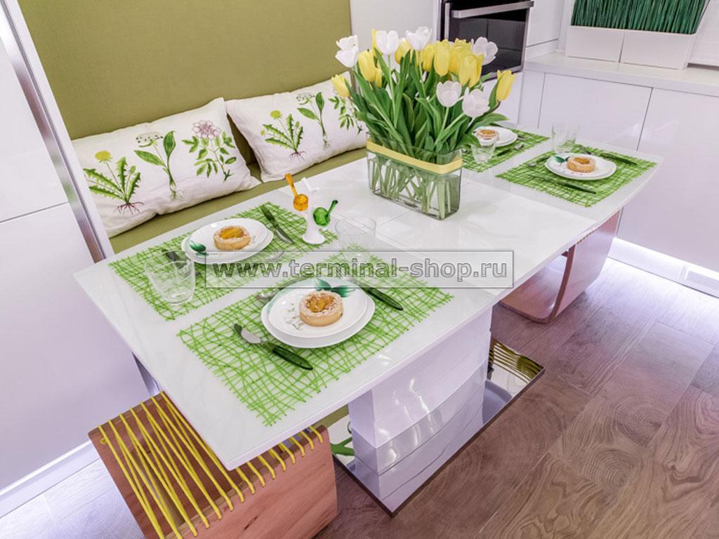 Стол обеденный DT15037-1 (Белый)