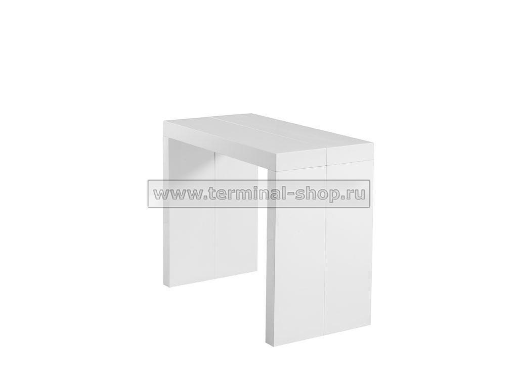 Стол-консоль N110 (Глянец белый)