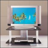 ТВ тумба V249 (Матовый M004, Стекло чёрное BLACK)