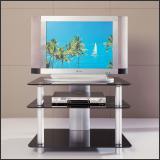 ТВ тумба V251 (Матовый M004, Стекло чёрное BLACK)