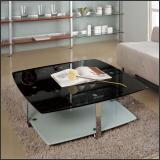 Стол журнальный A1266C (Стекло чёрное с блёстками GA001)